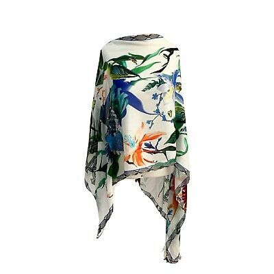 (Ad)eBay – ROBERTO CAVALLI FLORAL BIRDS BUTTERFLY 100% MODAL Long Scarf GOOD CD …