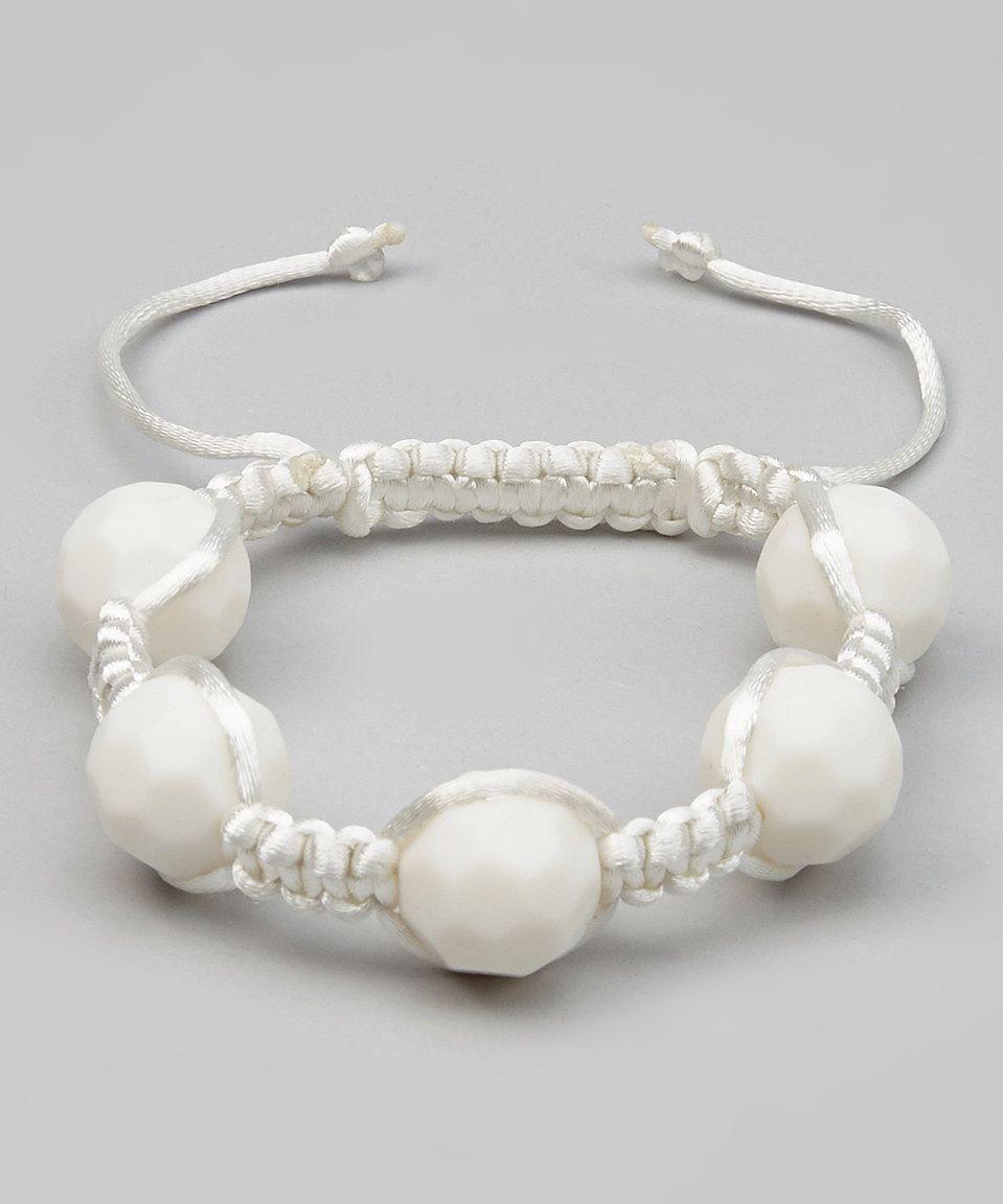 Look what I found on #zulily! White Caribbean Kai Teething Bracelet - Women by GUMEEZ #zulilyfinds