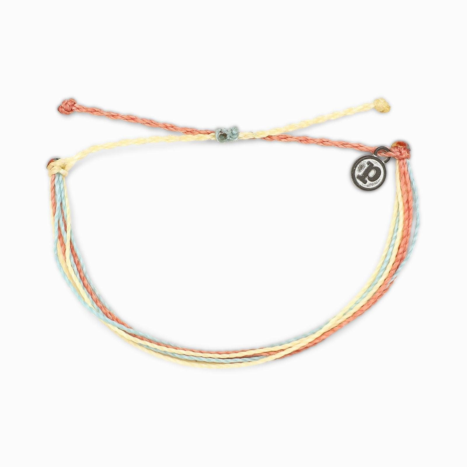 with Iron-Coated Accessories Wax-Coated with Charm 100/% Waterproof Pura Vida Anklets