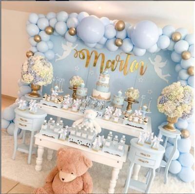 Atemberaubende 3M DIY Pastellblau & Chrom Gold Ballon Girlande Kit-Party Dekorationen
