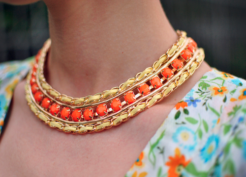 Collar necklaces.