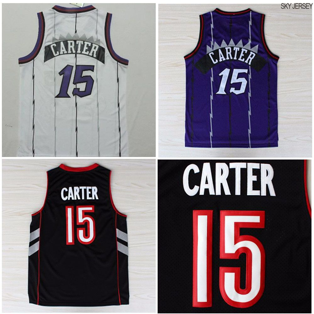 Home all star all star game 2015 comprare canotta nba all - Aliexpress Com Buy Toronto 15 Vince Carter White Purple Black Raptors Jersey