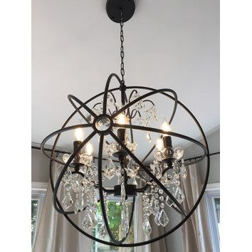 Lightupmyhome 24 inch iron orb sphere crystal chandelier reviews lightupmyhome 24 inch iron orb sphere crystal chandelier reviews wayfair aloadofball Image collections