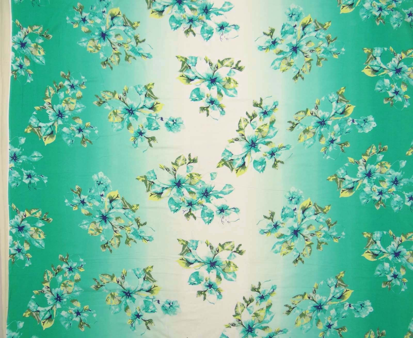Dressmaking 53 Wide Floral Printed Cotton Fabric Crafting Material By