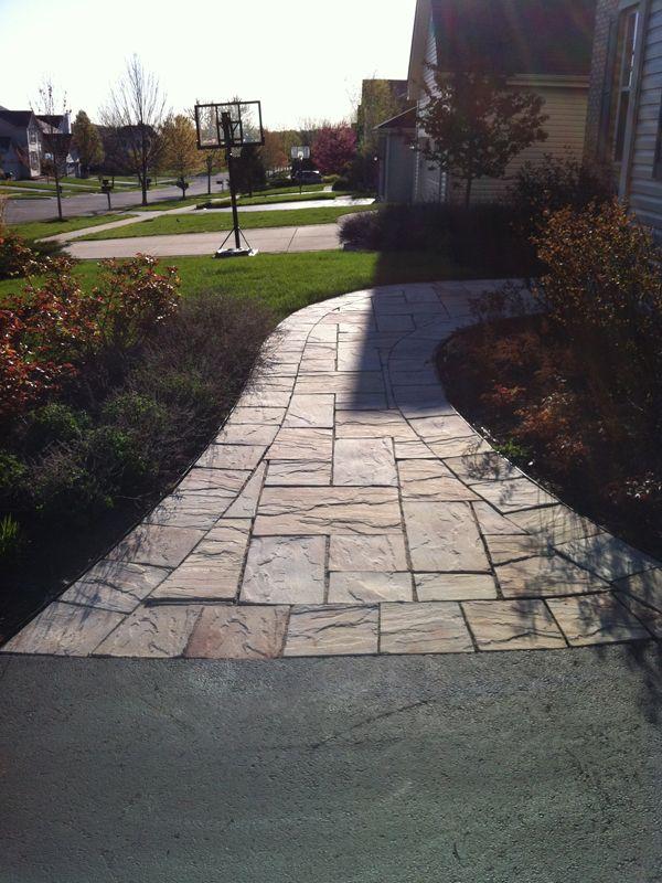 Brick And Natural Stone Paver Walkways Natural Stone Pavers Walkway Landscaping Landscape Design