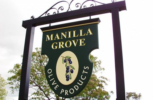 Custom Shapes Can Really Make A Sign Stand Out Manillla Grove Business Danthonia Designs
