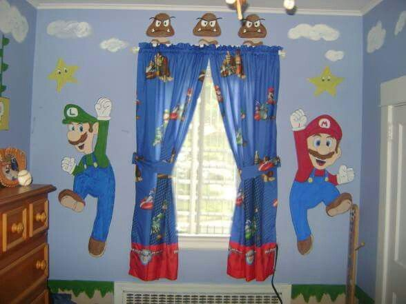 Pin By Nikki Cali On Boys Room Decor With Images Mario Room Super Mario Room Mario Bros Room