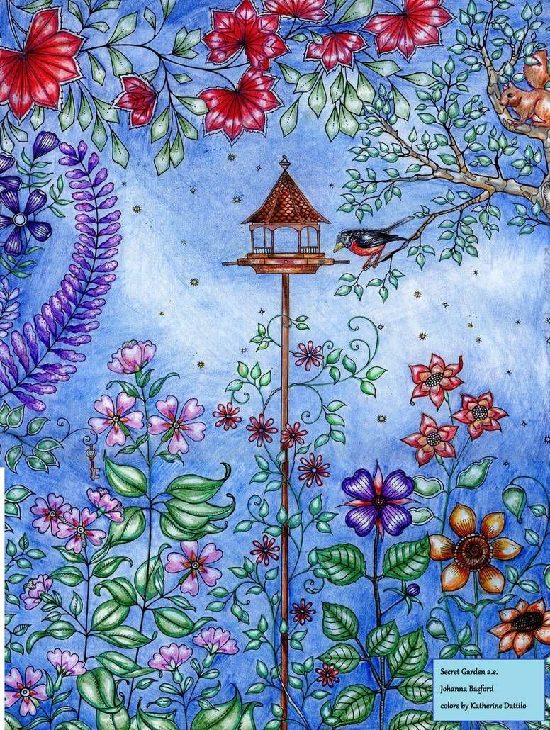 Secret Garden Artist Edition Birdfeeder By Katthegrrreat On Deviantart Secret Garden Coloring Book Secret Garden Colouring Johanna Basford Secret Garden