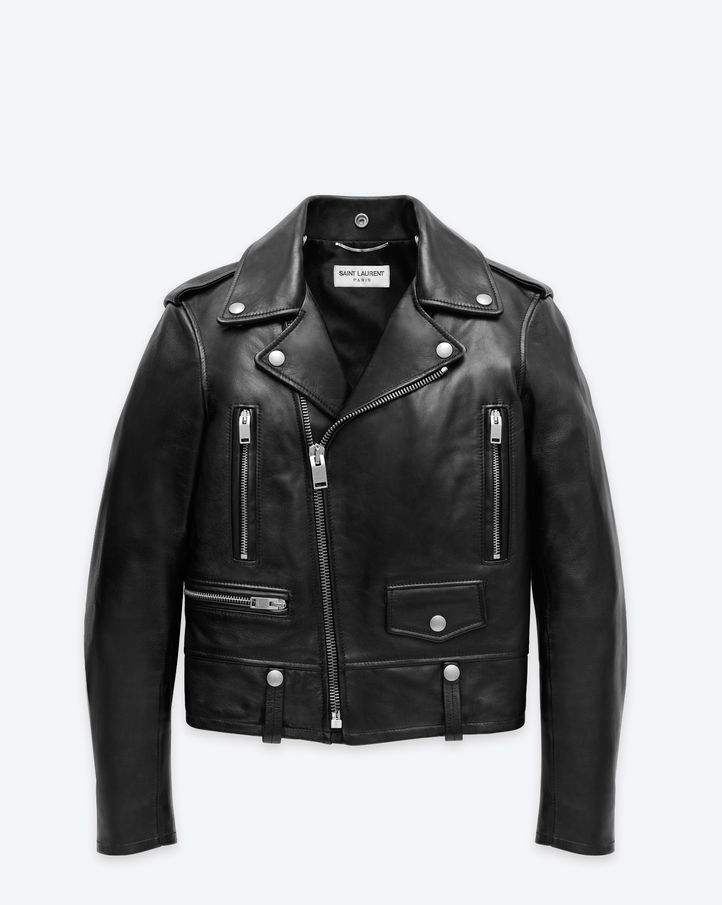 The Permanent Collection Saint Laurent Classic Motorcycle Jacket In Black  Leather   ysl.com