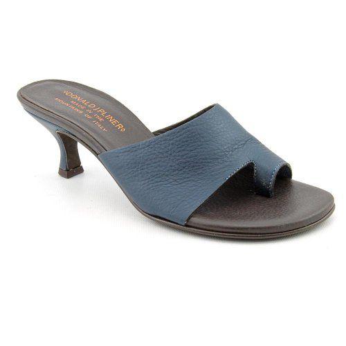 Donald J Pliner Valore Womens Size 5.5 Blue Blue Leather Slides Sandals Shoes