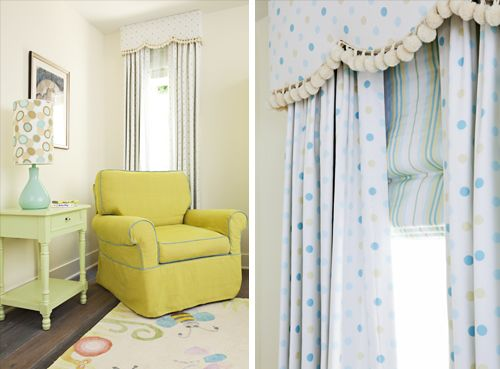 Love the valance and drapes look