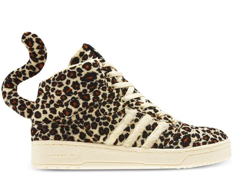 Adidas è jeremy scott leopardo uk 4 us 36 2 / 3 panda denim ali