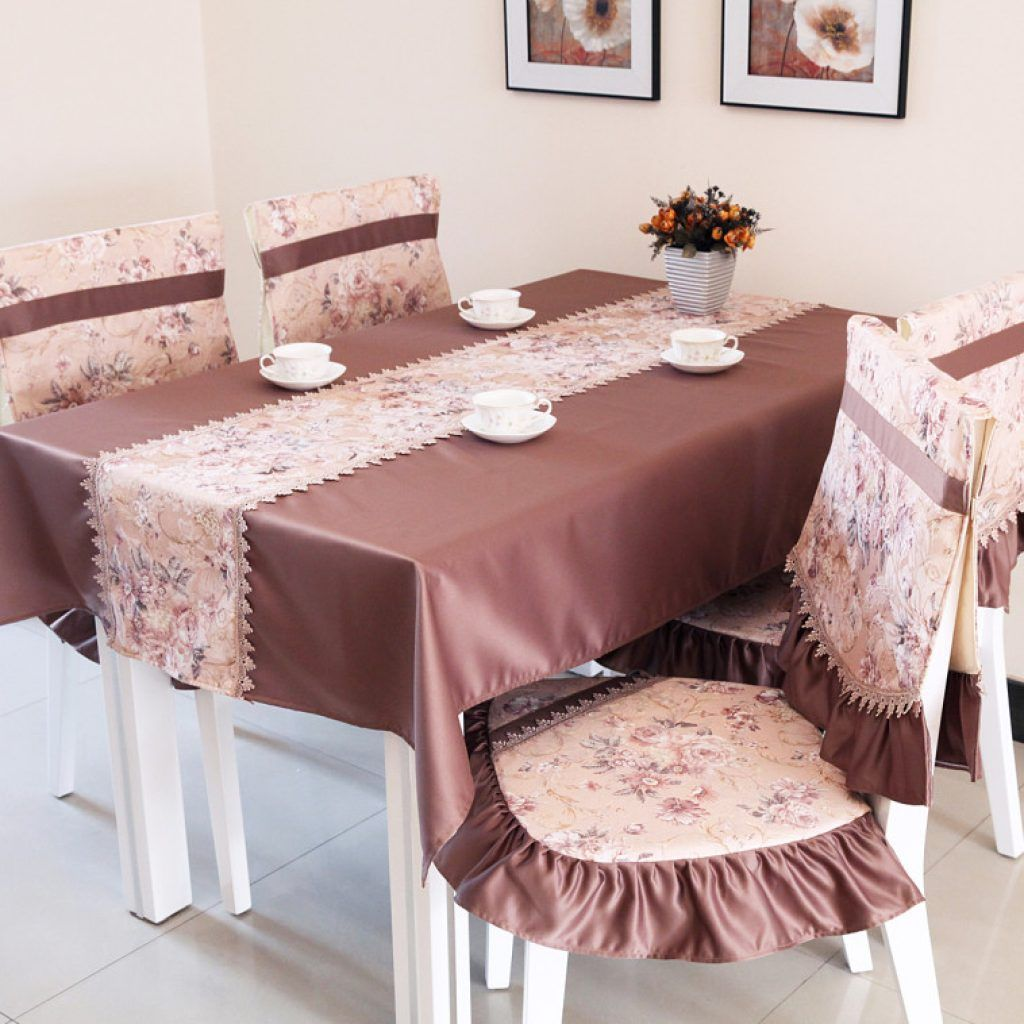 Awesome Dining Room Chair Seat Cover Decor With Floral Pattern And Plum Short Skirt Covering