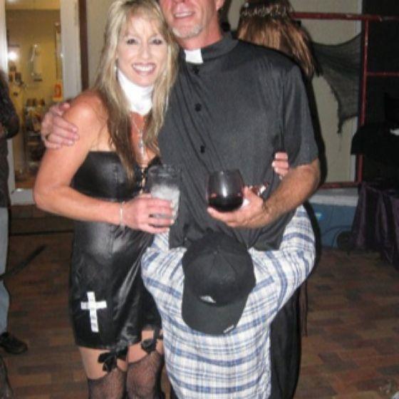 Perverted priest costume