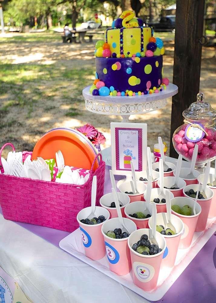 Bubbles Birthday Party Ideas Photo 11 Of 22 Bubble Birthday Bubble Birthday Parties Toddler Birthday Party Themes