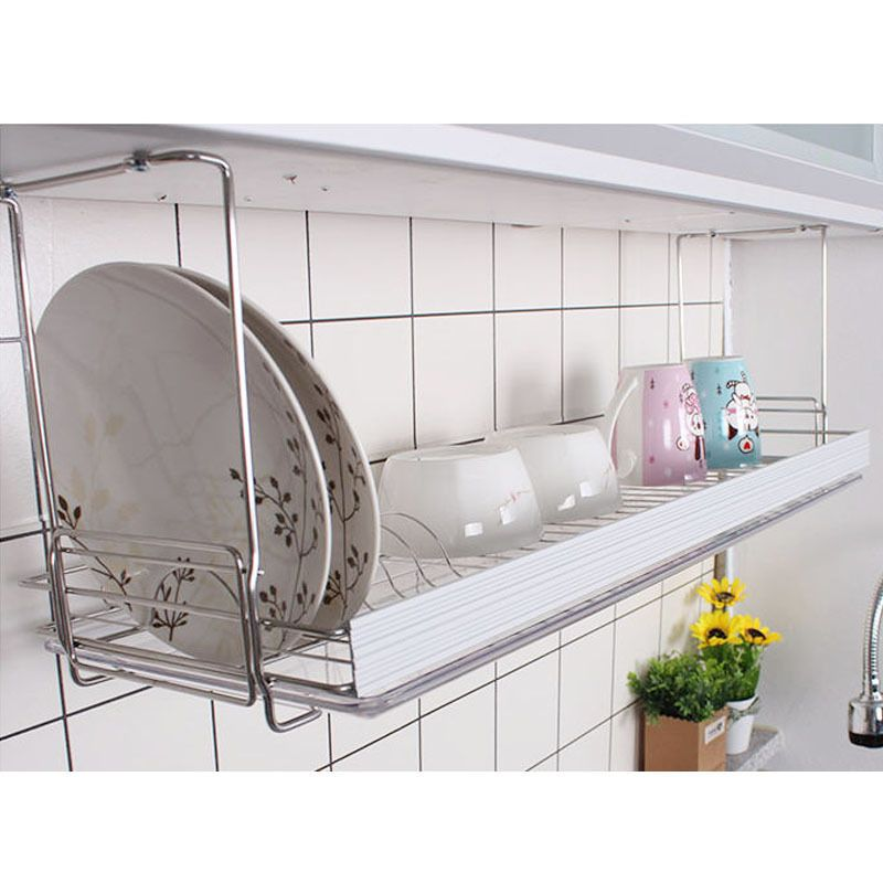 31 Safety Bar Dish Drying Rack Drainer Dryer Suspended Shelf Kitchen Dish Holder Dish Rack Drying Suspended Shelves Kitchen Remodel Software