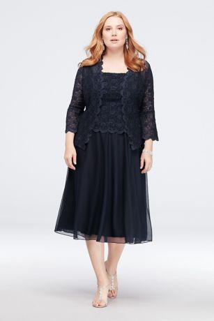 9a4d5e809de Paired with a matching square-neck lace and chiffon tank dress. By Cachet  Two-piece ensemble Polyester
