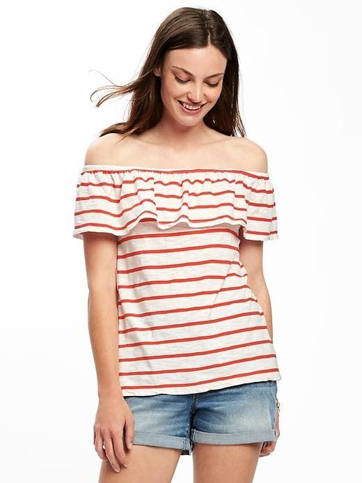 fdeb4a13c718a4 Old Navy Relaxed Off-the-Shoulder Swing Top for Women