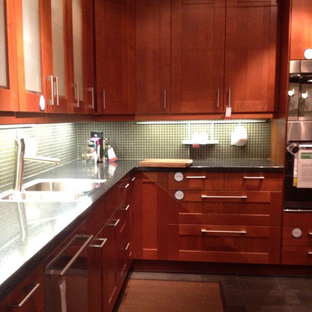 Medium Brown Kitchen Cabinets: Adel Medium Brown Cabinets, Concrete Color