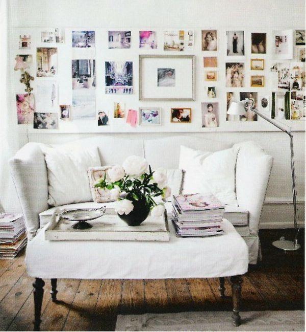 Dekoration wohnzimmer wände  Familienfotos auf Idee auf dem Wand in Ihrem Wohnzimmer ...
