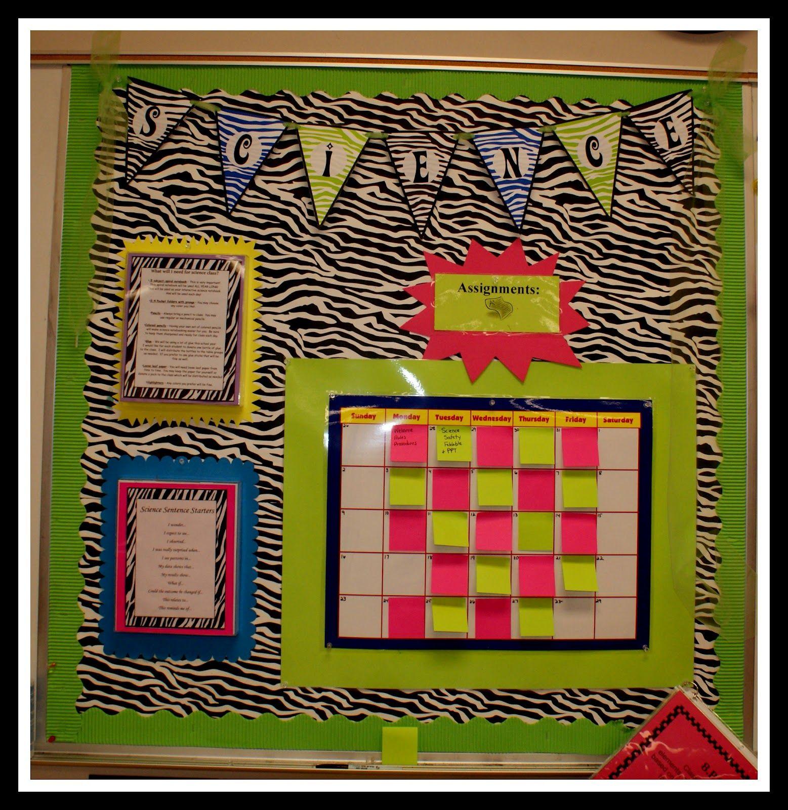 A Look Inside My Classroom Middle school classroom decor