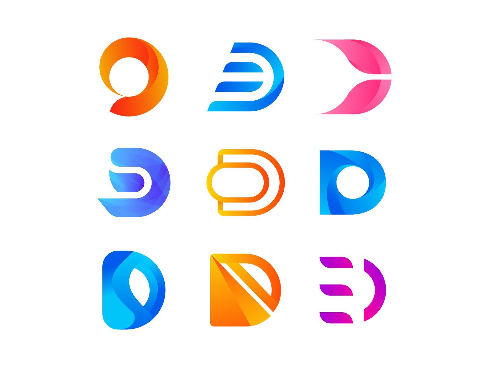 Alphabet Logo Collection D Letter Lettering Logo Design Logo Collection