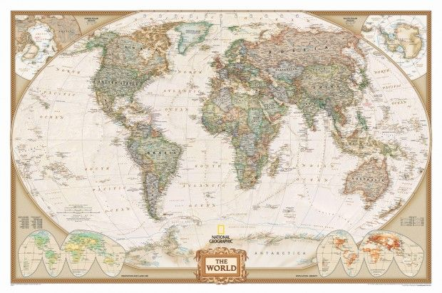 How To Hang A National Geographic World Map Mural Map Wall Mural World Map Wallpaper World Map Mural