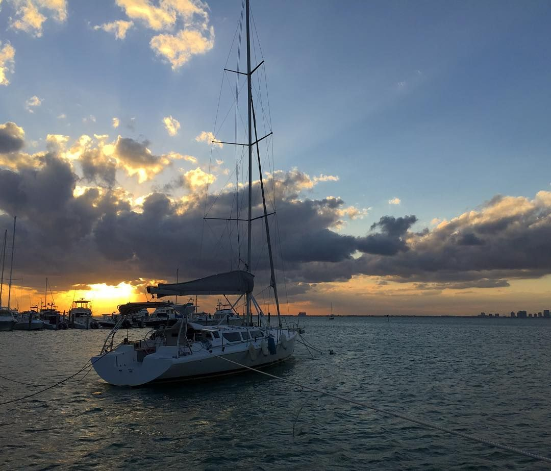 Not hating today's view from the office.  #keybiscayne #sunset