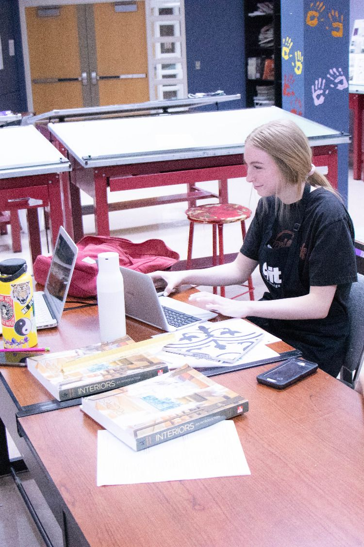 Firstyear InteriorDesign students in EVITFIT program