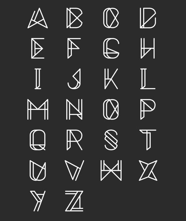 This level of complexity in the lines, I'd like it if only one of the letters was embellished though, but if it looks nice as all of them I'm open