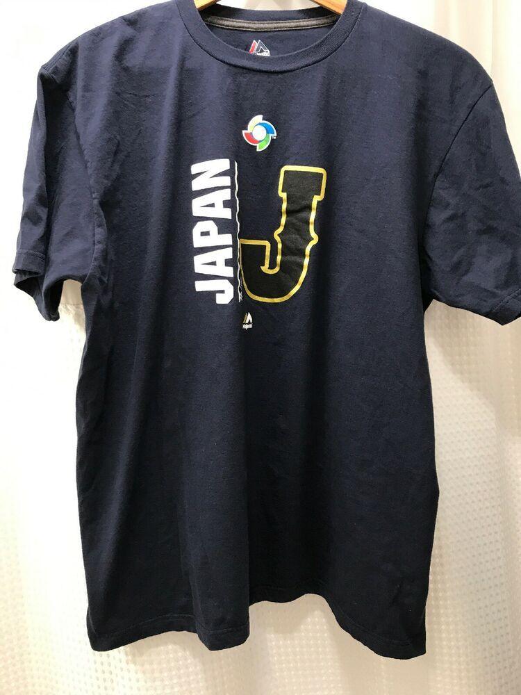 Japan Baseball Graphic Tee Wbc Majestic Mens T Shirt Xl Blue J Short Sleeve Majestic Graphictee Casual In 2020 Baseball Graphic Tees Japan Baseball Mens Tshirts