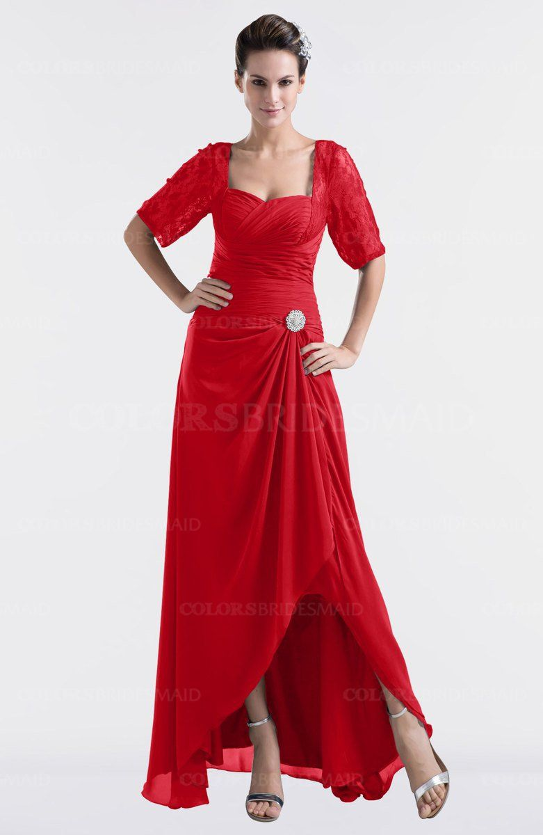 Colsbm emilia red bridesmaid dresses pinterest