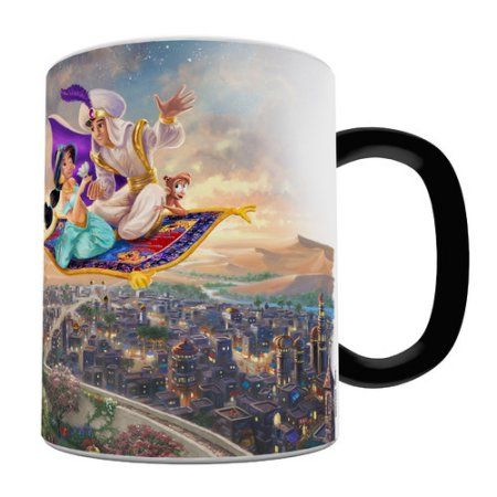 Morphing Mugs Aladdin And Princess Jasmine Heat Sensitive Coffee Mug Walmart Com Mugs Disney Mugs Coffee Mugs