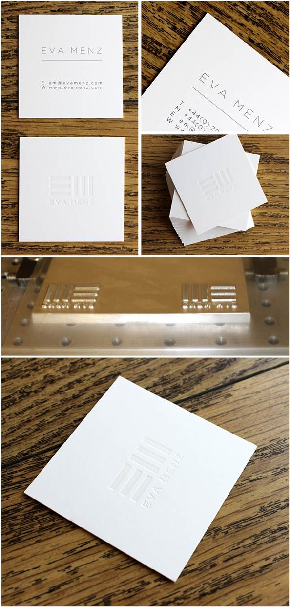 55mm square super thick 670gsm duplex board business cards which are ...