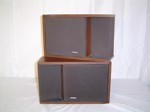 Pair Bose 201 Series II Direct Reflecting Bookshelf Speakers Brown Woodgrain