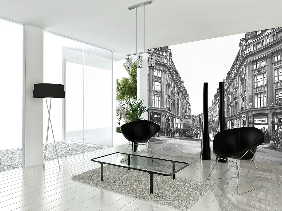 Black and White Interiors: London streetscape cultural historic ...