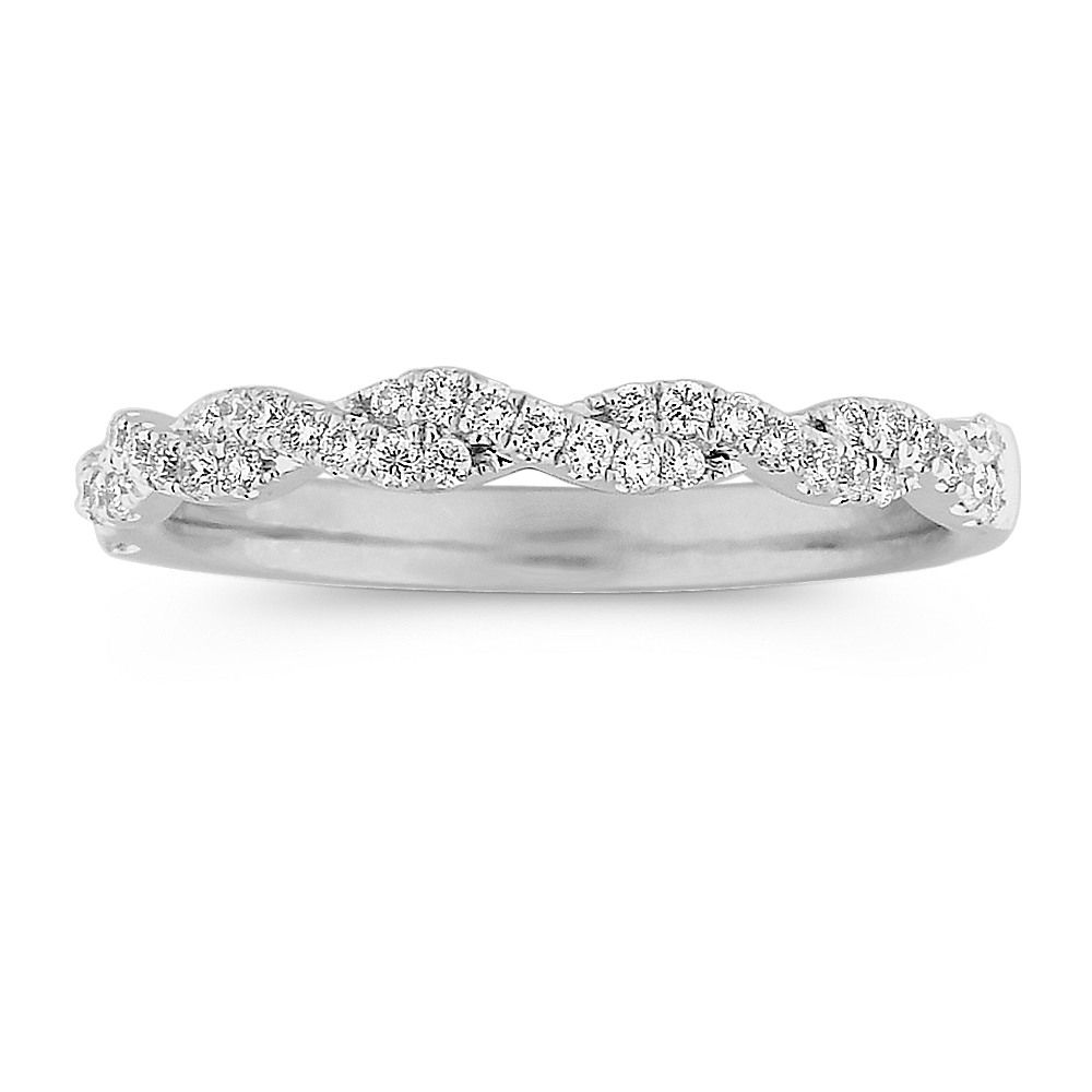 eac038814d32c Infinity Diamond Wedding Band in 14k Yellow Gold | Our day ...