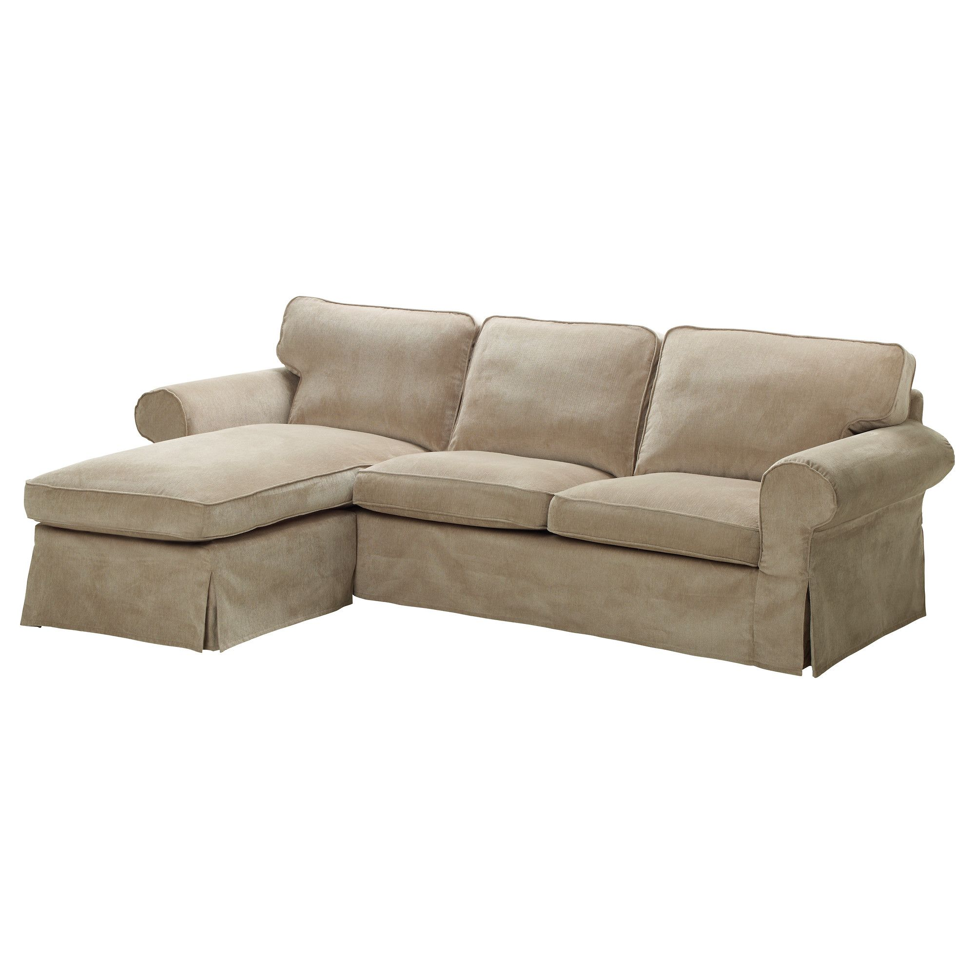 Ektorp Loveseat And Chaise Lounge  Vellinge Beige  Ikea