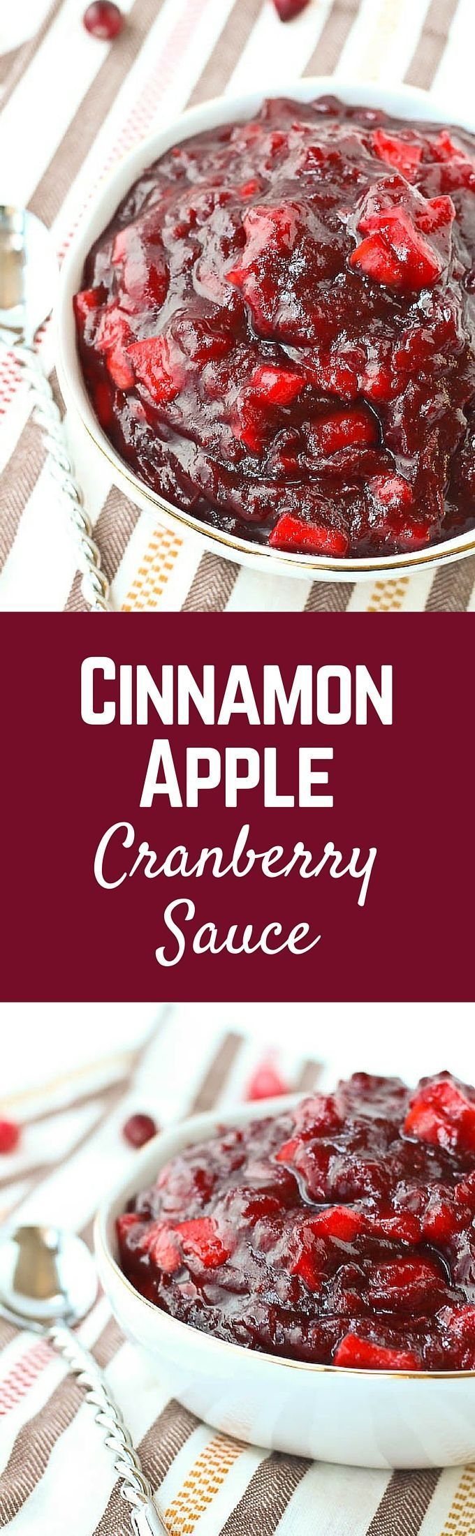 Cinnamon Apple Cranberry Sauce