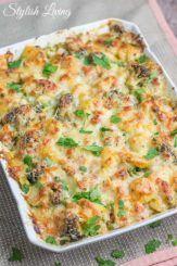 Kartoffel-Brokkoli-Auflauf mit Schinken und Käse + Gewinner #carneconpapas