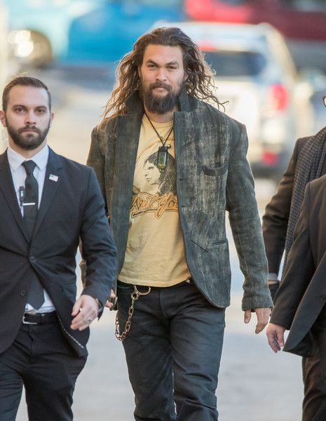 Jason Momoa Photos Photos - Jason Momoa is seen at 'Jimmy Kimmel Live' on January 26, 2017. - Jason Momoa Stops by 'Jimmy Kimmel Live'