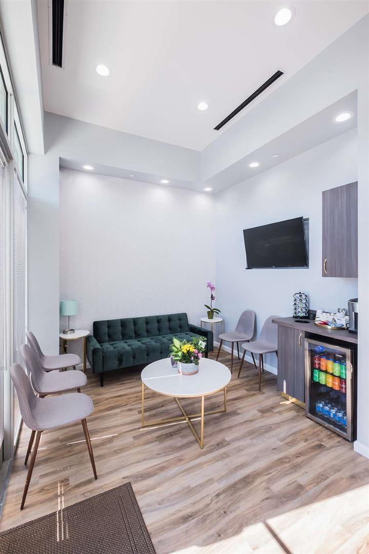 Mint Dental Care Reception Area Design #dentalcare
