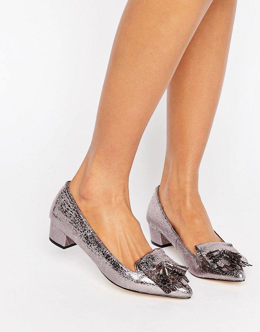 2c9489a1211 Pewter block heels