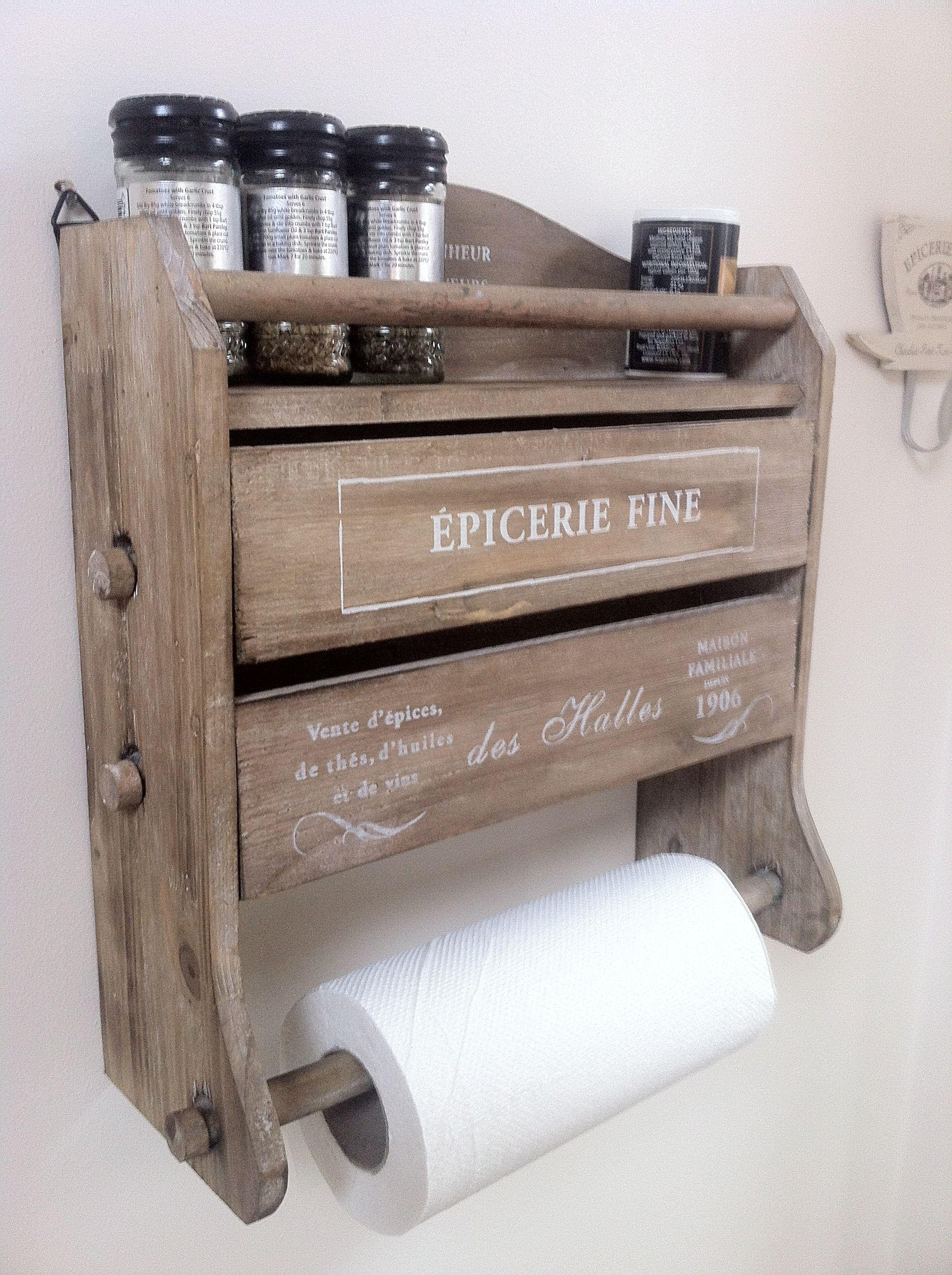 Wooden Kitchen Roll Tin Foil Dispenser   Want! (from : Http://