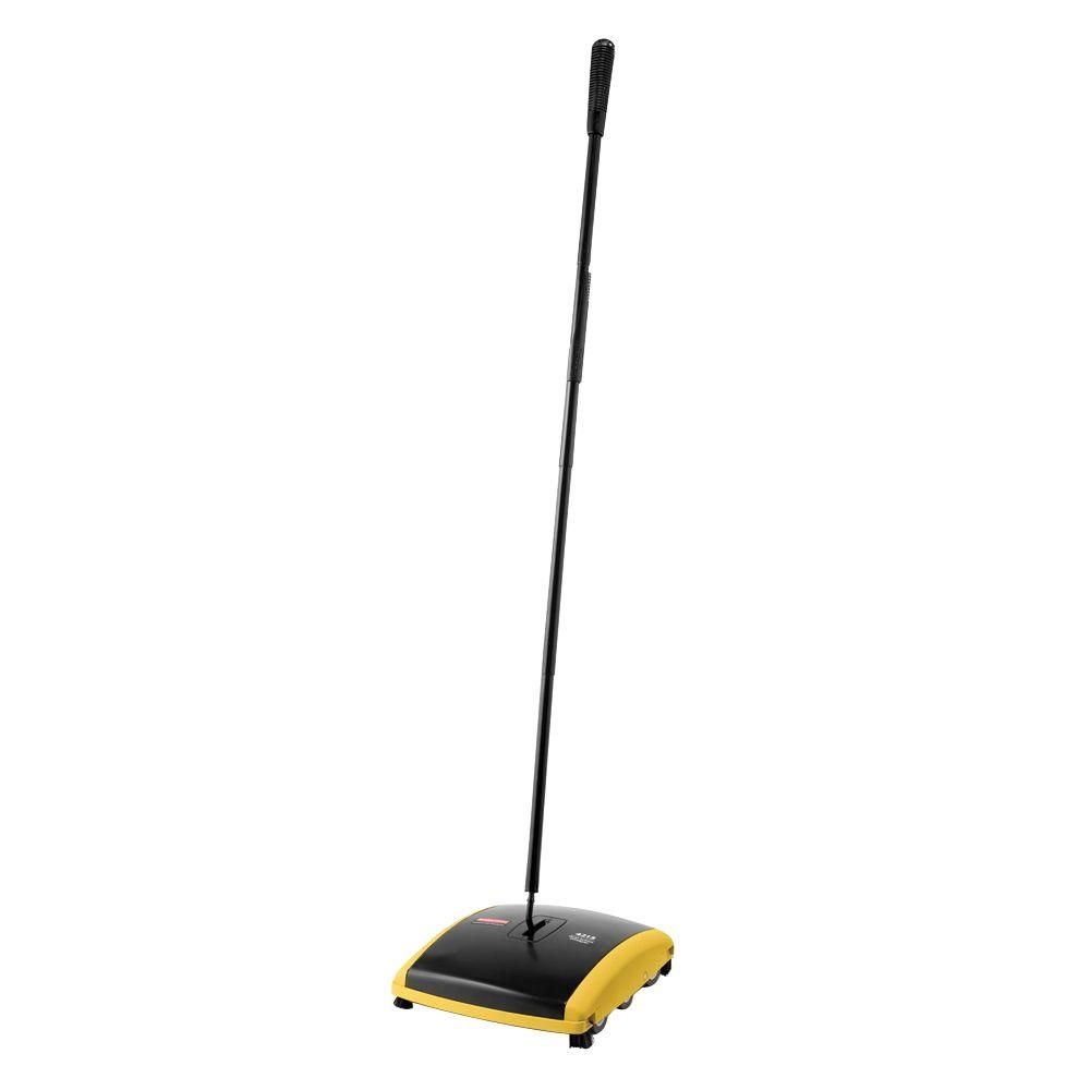 Dual Action Sweeper Blacks Rubbermaid Low Pile Carpet Rubber