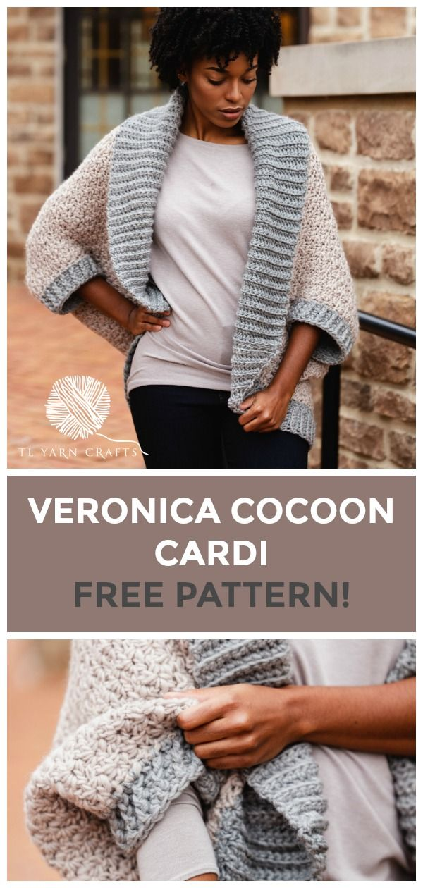 The Veronica Cocoon Cardi, an oversized blanket sweater | TL Yarn Crafts
