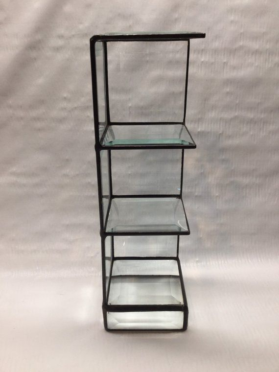 Beveled Glass Display Shelf Display For Miniatures Souvenir Display Box Display Shelf 10 38ths Tall x 3 Inches Wide Hand Made in USA  Products