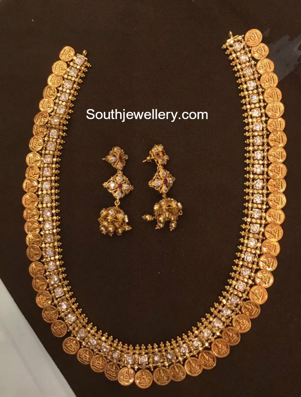 100 Grams Antique Gold Kasu Haram Gold Jewelry Fashion 22 Carat Gold Jewellery Bridal Jewelry Collection