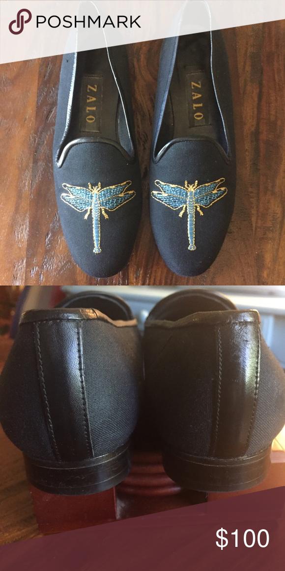 Zalo Black shoes with dragonflies. Zalo Black shoes with dragonflies.   Like new...only worn a couple of times Zalo Shoes