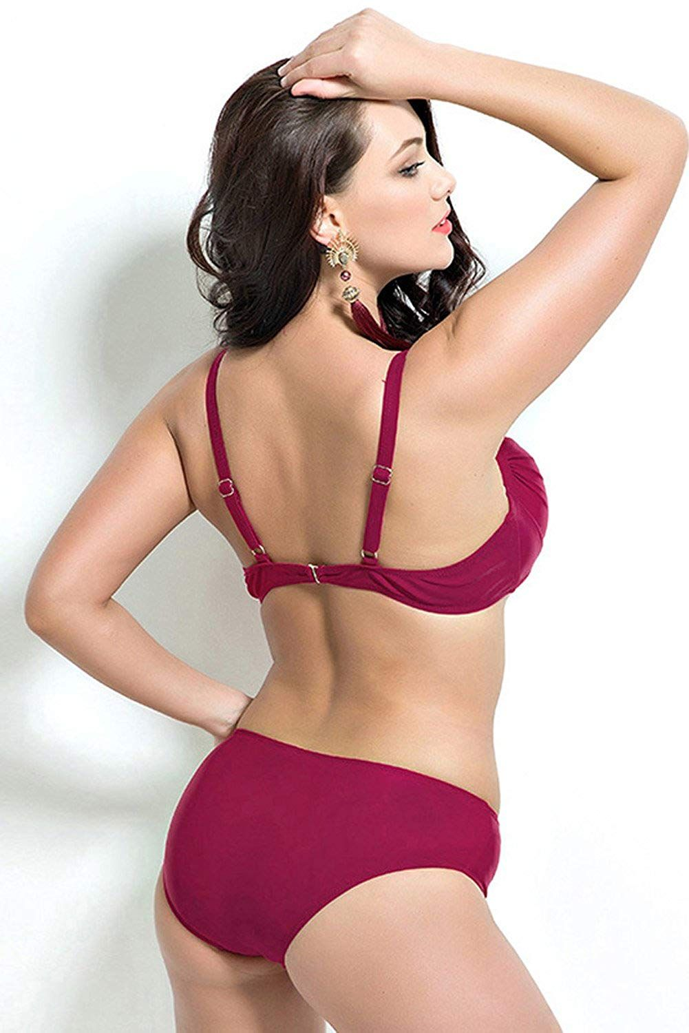 6820e67102 DAILEE Sexy Womens Bikinis Plus Size Swimwear Vintage Swimsuits Bikini Set  for Busty Women ** See this great product. (This is an affiliate link) # ...